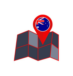 Insignia australia is isolated on a white vector