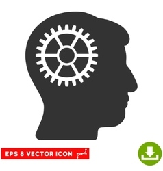 Intellect Cog Eps Icon vector