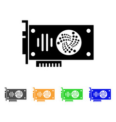 Iota gpu card icon vector