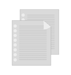 Lined paper document vector