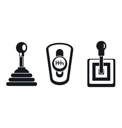 manual gearbox icon set simple style vector image