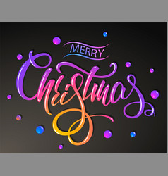 merry christmas greetings card colorful vector image