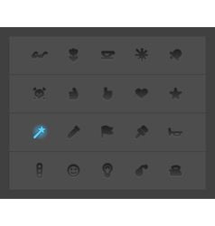 Miscellaneous interface icons vector