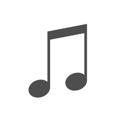 music notes icon isolated on vector image