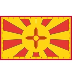 New Mexico state sun rays banner vector image