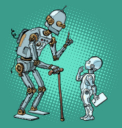 Old and new robot vector