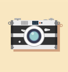 old film camera vintage photo vector image