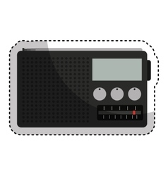 Old radio handle isolated icon vector
