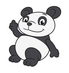 panda waving hand 2 vector image