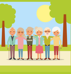 People grandparents characters vector