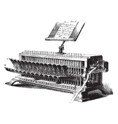 Perforating machine vintage vector