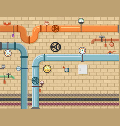 pipeline plumbing background vector image