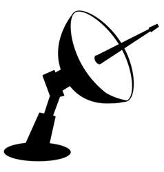 Radar dish stencil vector