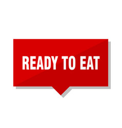 Ready to eat red tag vector