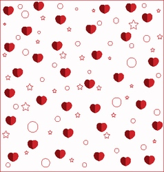 red love card with hearts vector image