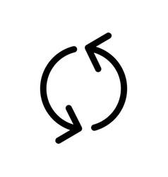 Refresh outlin icon vector