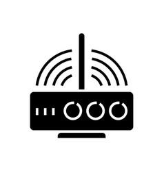 router wireless icon black vector image