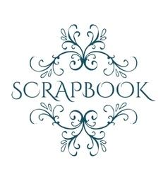Scrapbook Calligraphic vintage design element vector