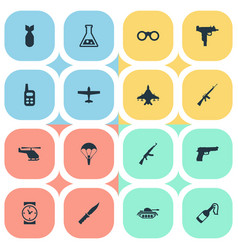 Set 16 simple terror icons can be found such vector