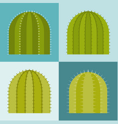 set of cactus flat design vector image