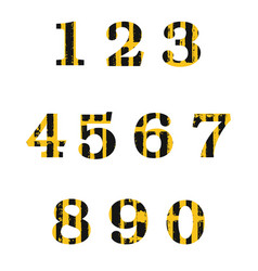 Set of grunge distressed numbers vector