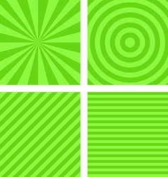Simple lime color striped pattern set vector image