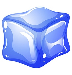 Single blue ice cube vector