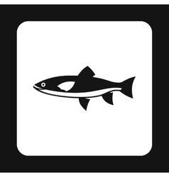 Smelt icon simple style vector image