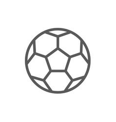 soccer ball line icon vector image