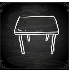 Table Drawing on Chalk Board vector