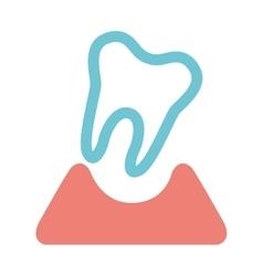 Teeth healthcare dental icon vector