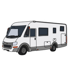 The modern large motor home vector