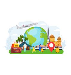 Travel tourist people concept vector