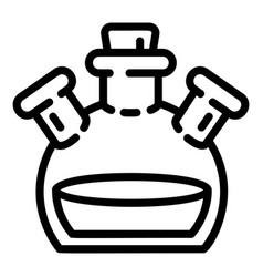 triple flask icon outline style vector image