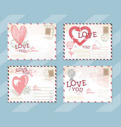 Valentines day postcard card design vector
