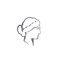 venus sculpture logo - antique art statue greek vector image
