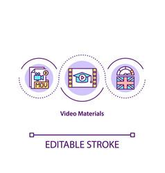 Video materials concept icon vector