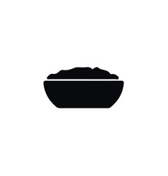 isolated porridge icon cereal element can vector image