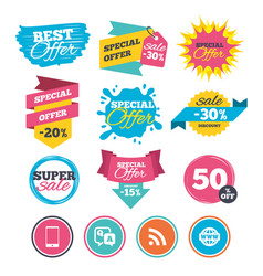 question answer icon smartphone and chat bubble vector image
