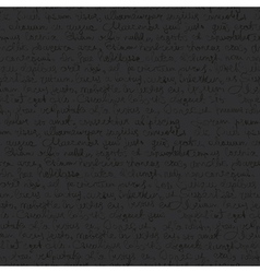 seamless writing pattern on dark gray background vector image vector image