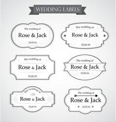 Vintage wedding labels vector image vector image