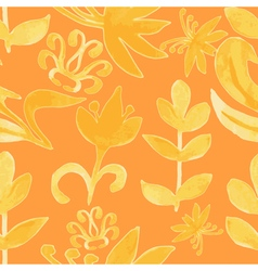 Watercolor pattern Floral texture Abstract vector image vector image