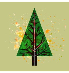 abstract watercolor pine tree vector image