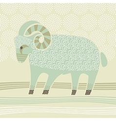 Decorative Ram vector image