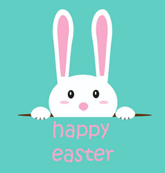 easter background with rabbit vector image vector image
