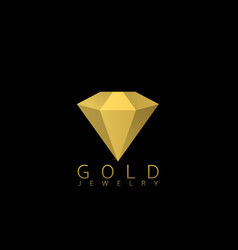 golden jewelry icon vector image