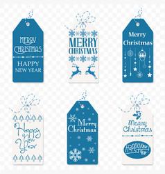 set of christmas label christmas tag new vector image vector image