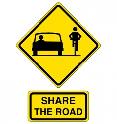 share the road vector image vector image