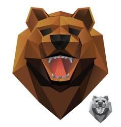 bear-head-front vector image vector image