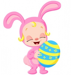 easter baby vector image vector image